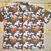 H&M Летняя рубашка для парня 12 лет ( 152)
