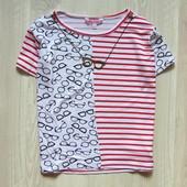 Яркая стильнейшая футболка-топ для девочки.  Miss e-vie. Размер 7-8 лет. Состояние: новой вещи