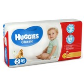Подгузники Huggies Classic 5 (11-25 кг) Mega 58 шт.