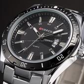 Кварцевые мужские наручные часы Curren Steel Power с датой