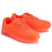 Женские кроссовки цвета оранжевый неон