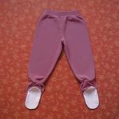 Флисовые штаны-ползунки на 2 года, б/у. Состояние новых. Длина до пяточки 58 см, шаговый до пяточки