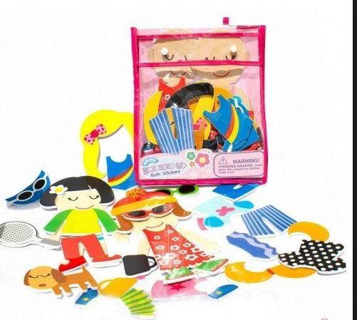 Распродажа - модные наряды игровой набор стикеров для ванной  от  meadow kids фото №1