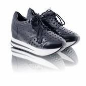 Стильные кроссовки 6353 черные