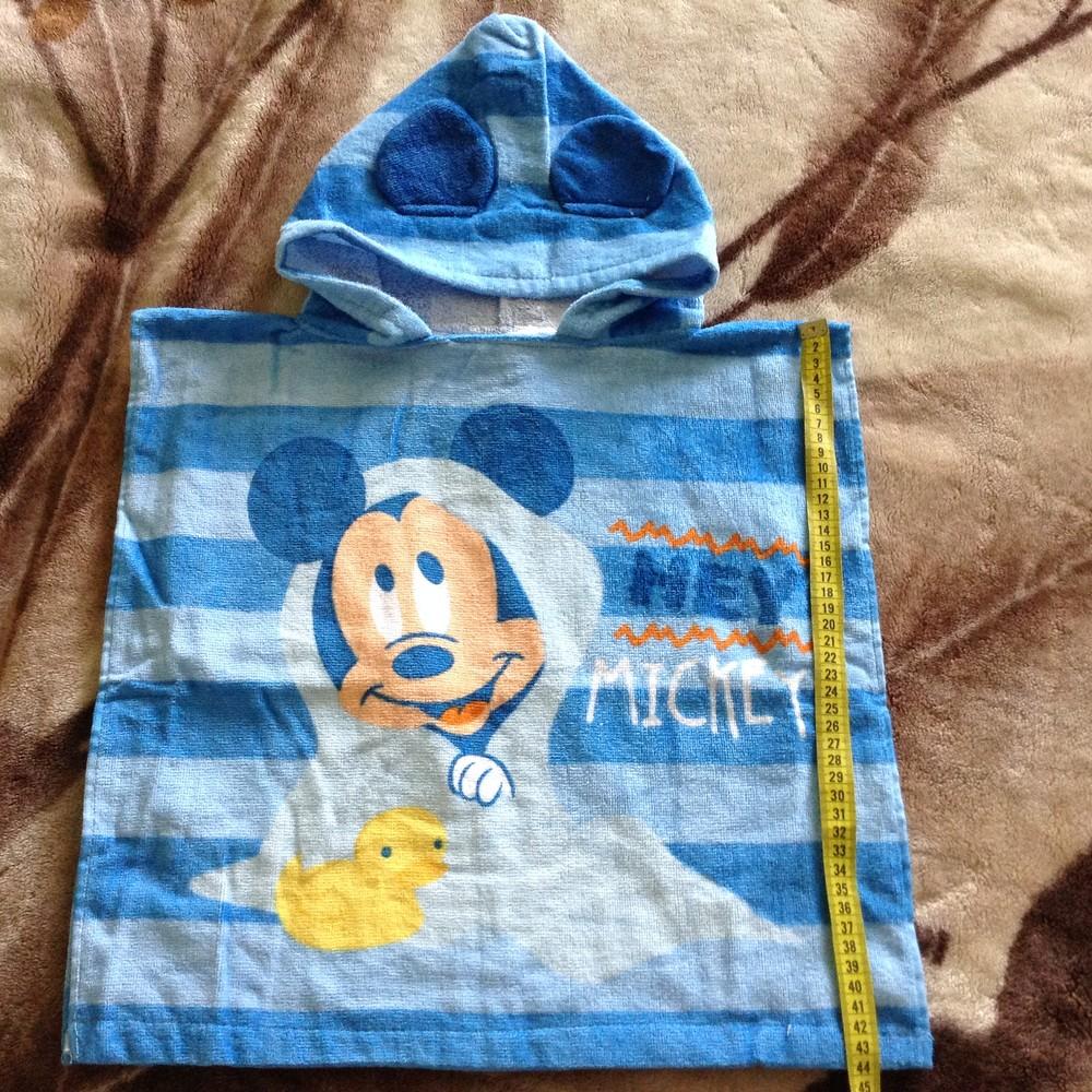 Пляжное полотенце накидка с капишоном фото №1