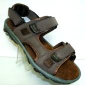 Коричневые мужские кожаные сандалии