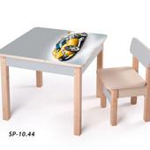Новинка! серия столов-парт для мальчиков - Спортивные авто, (sp-10.44) Вальтер