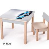 Новинка! серия столов-парт для мальчиков - Спортивные авто, (sp-10.45) Вальтер