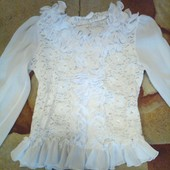 Красивая белая блузка. Состояние новой