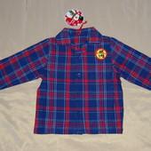 Рубашечка байковая - (6-12м)- новая