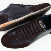 Кроссовки мужские Lacoste коричневые кожаные