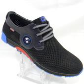 Туфли Bumer, лето, р. 40-45, натур кожа, синий и черный цвет, распродажа