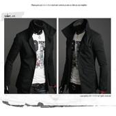 Стильная куртка - пиджак из плотной х/б ткани черная