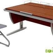 Гарантия! мебель для школьника Дэми - парта + стул+ 2 задних полки,  яблоня серый (Д-20031070)