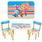 Столик детский с двумя стульчиками 501-4,Фиксики