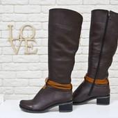 Кожаные,замшевые  сапоги осень-зима(101),р-ры 36-41,любой цвет!