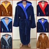 Мужской халат Махровый теплый пушистый