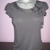 Серая блузка-футболка