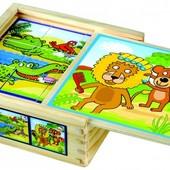 "Кубики ""Веселые животные"" Bino 84198"