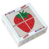 Кубики «Сложи рисунок: Фрукты-ягоды», Komarovtoys Т 606