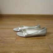 Lands'end р.37 шкіряні балетки в'єтнамки лодочки босоножки