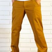 Стильные штаны Чинос горчичные