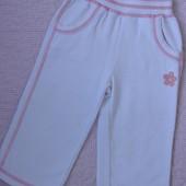 Белые спортивные штанишки для девочки 12-18 мес.