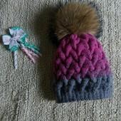 шапочки вязаные с хомутом
