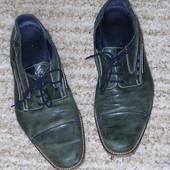 Туфлі шкіряні зелені р.45 стелька 31 см Tiice