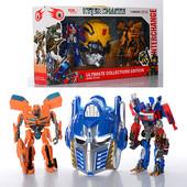 Робот Трансформер Оптимус Прайм и Бамблби + маска! звук, свет