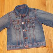 Стильный джинсовый пиджак M&S для ребенка 12-18 месяцев,86 см