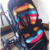 Сменный  вкладыш-подушка в коляску, авто-кресло