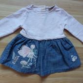 Фирменное платье Next малышке 3-6 месяцев состояние отличное
