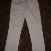Фирменные Denim оригинал узкие белые джинсы на 48-50 размер