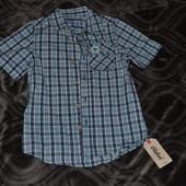 новая рубашка Rebel Primark Англия 8-9 лет 100% хлопок лёгкая и модная