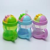 Детская бутылочка с трубочкой, непроливайка, поильник