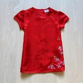Яркое атласное платье для стильной леди.  Cherokee. Размер на бирке 12-18 месяцев, будет дольше
