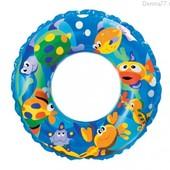 """Надувной круг """"Рифы океана"""", 61 см 59242 Intex (синий)"""