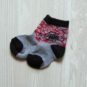 Новые носочки для мальчика.  Размер не указан, смотрите замеры, будут до 6-ти месяцев