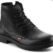 Levis Ботинки черные кожаные высокие на шнуровке бренд оригинал из США р44