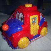 каталка на веревочке машинка для малышей