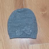 Красивая демисезонная шапка George для девочки 3-5 лет, 50 см
