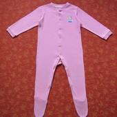 Хлопковый человечек на 18-24 месяца, б/у. Хорошее состояние, без пятен. Длина от плеча до пяточки 69