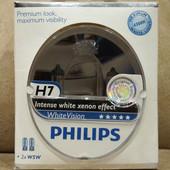 Автомобильные лампы H7 Philips White Vision 4300K +60%