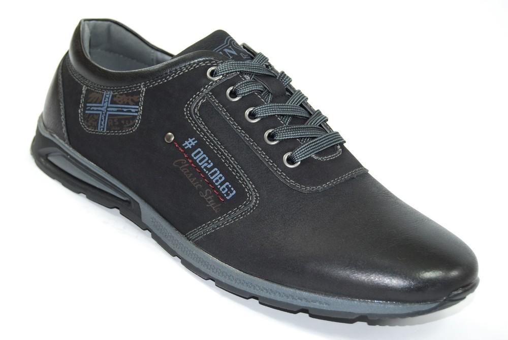 Мужские туфли комфорт Black фото №1