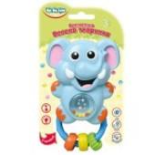игрушка-погремушка Веселое животное Слоненок Львенок осьминог коровка дельфин лягушонок от  BeBeLino