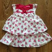 Красивое платье 12-18мес, сост нового