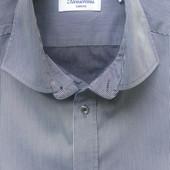 Мужская рубашка в тонкую полоску (S)