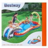 BestWay Надувной игровой центр 53051g Слоник с душем и горкой 279-173-102см