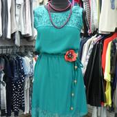Новое платье с поясом L-XL